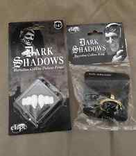 Dark Shadows Barnabas Collins Vampire Adult Costume Fangs Teeth & Ring Set  New