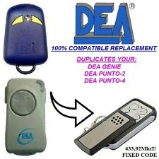 DEA Punto 2,DEA Punto 4 Universal remote control transmitter replacement, keyfob