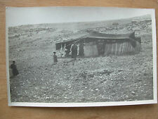 VINTAGE WWII POSTCARD A BEDUIN TENT IN PALESTINE 1944