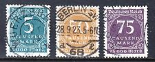 VG285 GERMANY #238a, 239, 240 USED STAMPS, CDS, VERY FINE CATALOG $29.50