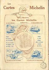 63 CLERMONT- FERRAND MICHELIN BIBENDUM CARTES ROUTIERES PUBLICITE 1919