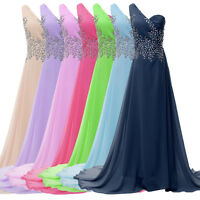 ❤❤Homecoming LONG Chiffon Bridesmaid Wedding Prom Formal Evening Party Dresses❤