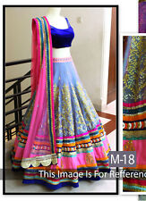 Best Selling Morli Blue New Fancy Designer Lehenga Choli for Girls & Women