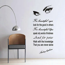 Removable Room Decor Audrey Hepburn Womens Eyes Wall Sticker Wall Decal UL