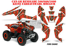 AMR RACING DEKOR GRAPHIC KIT ATV CAN-AM RENEGADE,DS250, DS450, DS650 FIRE CAMO B