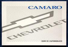 Owner's Manual * Betriebsanleitung 1998  Chevrolet Camaro  (F)