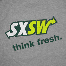 SXSW Subway T-Shirt Large South By Southwest Festival Restaurant Promo Austin