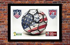 2014-2015 World Cup Soccer Events   Team USA Soccer Ball Poster