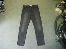 "Todd Lynn Slim Leg Jeans Size 14 Leg 30"" Black Faded Ladies Jeans"