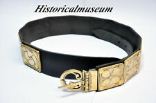 ROMAN LEGIONNAIRE BELT - Leather and Brass - ARMOR sca armor sale roman belt