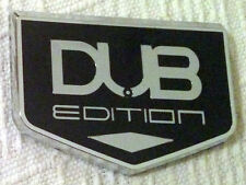 DUB EDITION PLATE CAR BADGE SIDE VW GOLF GTI 3D POLO LUPO CHARGER WING ESCALADE