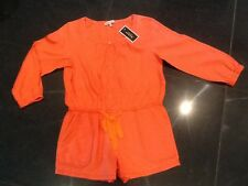 NWT Juicy Couture New & Genuine Ladies Orange Cotton Play Suit Size Small