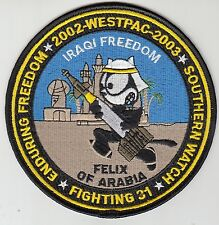 VF-31 TOMCATTERS IRAQI FREEDOM 2002 - 2003 WESTPAC CRUISE PATCH