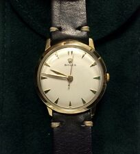 Vtg. 1950 Rolex D&A Classic 14k Solid Gold Mechanical Wind 17 Jewel Watch 33mm