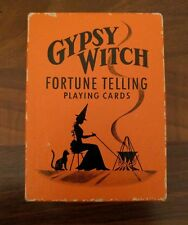 Vintage Gypsy Witch Fortune Telling Playing Cards 52 + 2 Jokers & Instructions