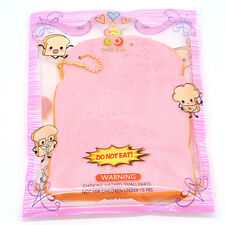 14CM Squishy Toast Slice Slow Rising Bread With Ballchain Kawaii Pressure Relief