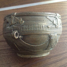 ANTIQUE DHOKRA CAST BRONZE METAL RICE BOWL MEASURE