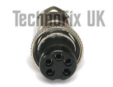 Connettore 5 pin Microfono bloccaggio spina Mike (gx16-5) per le radio molti popolari