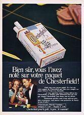 Publicité Advertising 016 1968 Chesterfield cigarettes