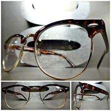 VINTAGE RETRO Style BIFOCAL READING EYE GLASSES READERS Tortoise Gold Frame 2.00