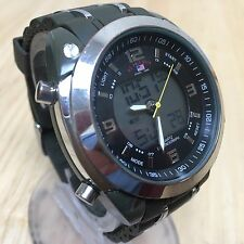 Nice US Polo Assn Men Analog Digital Alarm Chrono Quartz Watch Hours~New Battery