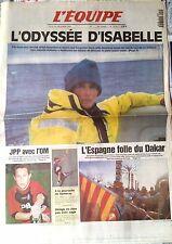 L'Equipe Journal du 29/12/1994; Isabelle Autissier/ JPP avec l'om/ Sampras/ Daka