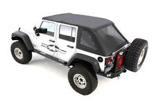 NEW 2007-2016 soft top Jeep Wrangler UNLIMITED BLACK TINT Bowless Combo top