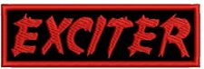 EXCITER EMBROIDERED PATCH JAG PANZER BATTLERAGE MANOWAR METALUCIFER Metal Negro