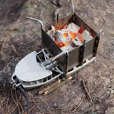 Wood Stove Foldable Portable Survival Firewood Furnace Bbq Barbecue Grill Burner