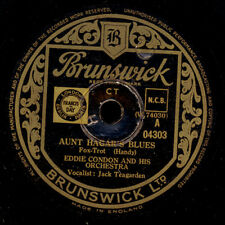 EDDIE CONDON & HIS ORCH. Aunt Hagar's Blues/ When your lover has gone 78rpm X941