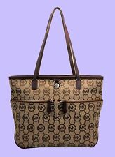 MICHAEL KORS KEMPTON Pocket MK Monogram Brown Tote Bag Msrp $168.00
