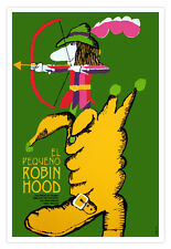 "Cuban movie Poster for""Little Robin HOOD"" For Children.Decorative room design"