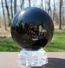 Large Black Tourmaline Sphere / Crystal Ball ~ Madagascar