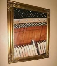 Hammers & Strings, A View Inside A Piano original oil painting Music theme 16x20
