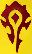 """World of Warcraft HORDE 7""""x11.5"""" Embroidered PATCH - color choice"""