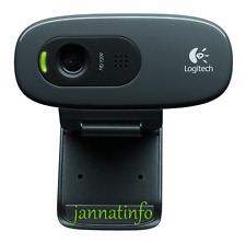 Logitech C270 HD Webcam Full hd 1080p with Skype video calls Carl Zeiss Optics