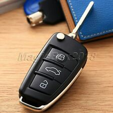3BTN Car Folding Flip Remote Key Fob Shell Case For Audi A2 A3 A4 A6 A6L A8 TT