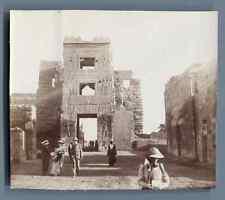 Egypte, Visiteurs à Karnak  Vintage citrate print. Vintage Egypt.  Tirage citr