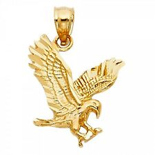 14K Yellow Gold Eagle Pendant GJPT1595