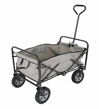 NEW Folding Outdoor Utility Folding Sports Beach Wagon Cart Gray Black  NWT