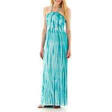 Braided Halter Maxi Dress in Peacock - Size Medium NWT Ladies a.n.a