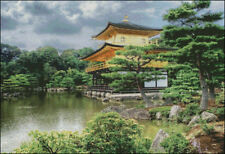 Needlework Crafts Full Embroidery Counted Cross Stitch Kits Temple Kyoto