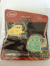 Fillmore & Luigi Limited Edition LE 350 Disney Store Cars 2 2011 2 Pin Set New