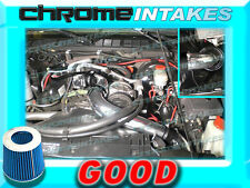"""BLACK BLUE 98-03 CHEVY S10 ZR2/XTREME/HOMBRE/SONOMA 2.2L FULL COLD AIR INTAKE 3"""""""