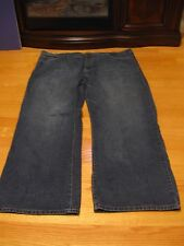 BERGAMO NEW YORK, MEN'S Blue Cotton Faded Relaxed Fit Jeans, Size 50/32