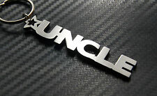 UNCLE Family Male Brother Keyring Keychain Key Fob Bespoke Stainless Steel Gift
