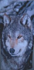"1 - 100% cotton  Wolf 30 x 60 Beach Towel new! 30"" X 60"""