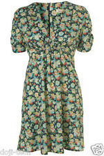 Kate Moss Iconic Floral Pansy Print Mini Tea Dress Vtg Topshop Debut 10 38 US6 S