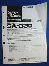 PIONEER SA-330 INTEGRATED AMPLIFIER SERVICE MANUAL ORGINAL FACTORY ISSUE