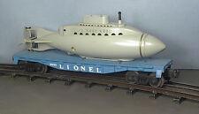 Lionel POSTWAR RARE ORIGINAL# 6830 NON- Operating SUBMARINE CAR